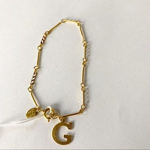"Park Lane Gold tone bracelet NWT ""G"" initials"